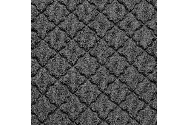 """Home Accent Aqua Shield Cordova 24"""" x 39"""" Half Round, Charcoal, large"""
