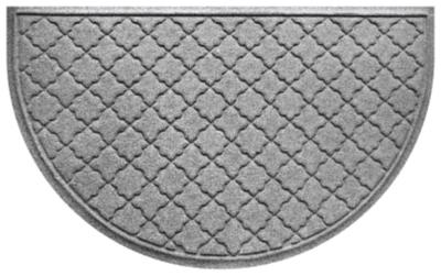 """Home Accent Aqua Shield Cordova 24"""" x 39"""" Half Round, Medium Gray, large"""