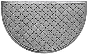 "Home Accent Aqua Shield Cordova 24"" x 39"" Half Round, Medium Gray, large"