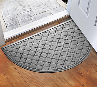 "Home Accent Aqua Shield Cordova 24"" x 39"" Half Round, Medium Gray, rollover"