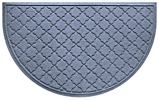 "Home Accent Aqua Shield Cordova 24"" x 39"" Half Round, Bluestone, large"