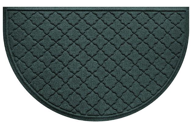 """Home Accent Aqua Shield Cordova 24"""" x 39"""" Half Round, Evergreen, large"""