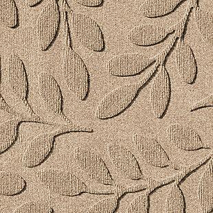 "Home Accent Aqua Shield Brittany Leaf 24"" x 39"" Half Round Doormat, Khaki, large"