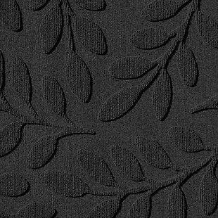 "Home Accent Aqua Shield Brittany Leaf 24"" x 39"" Half Round Doormat, Charcoal, large"