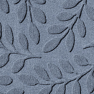 "Home Accent Aqua Shield Brittany Leaf 24"" x 39"" Half Round Doormat, Bluestone, large"