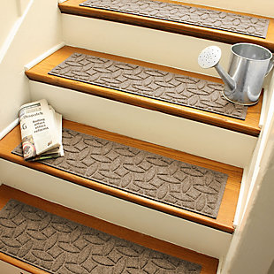 Home Accent Aqua Shield Elipse Stair Treads (Set of 4), Dark Brown, large