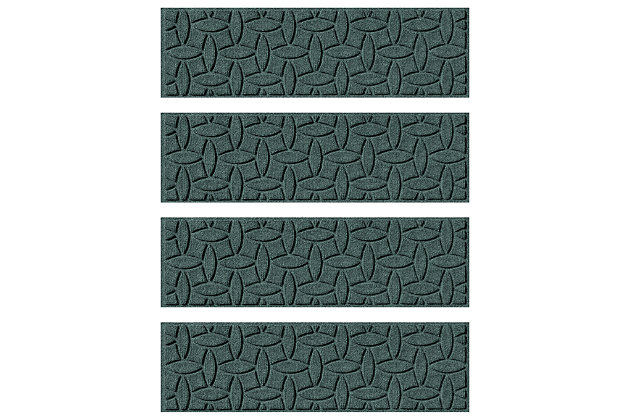 Home Accent Aqua Shield Elipse Stair Treads (Set of 4), Evergreen, large