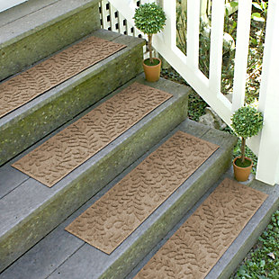 Home Accent Aqua Shield Boxwood Stair Treads (Set of 4), Khaki, rollover