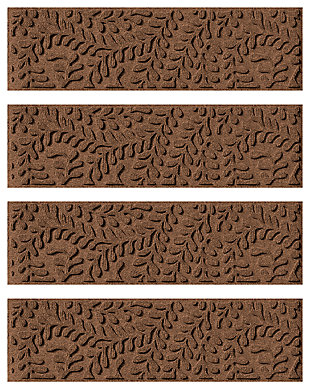 Home Accent Aqua Shield Boxwood Stair Treads (Set of 4), Dark Brown, large