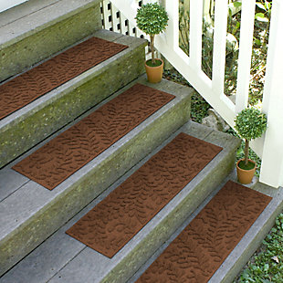Home Accent Aqua Shield Boxwood Stair Treads (Set of 4), Dark Brown, rollover