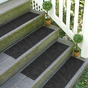 Home Accent Aqua Shield Boxwood Stair Treads (Set of 4), Charcoal, large