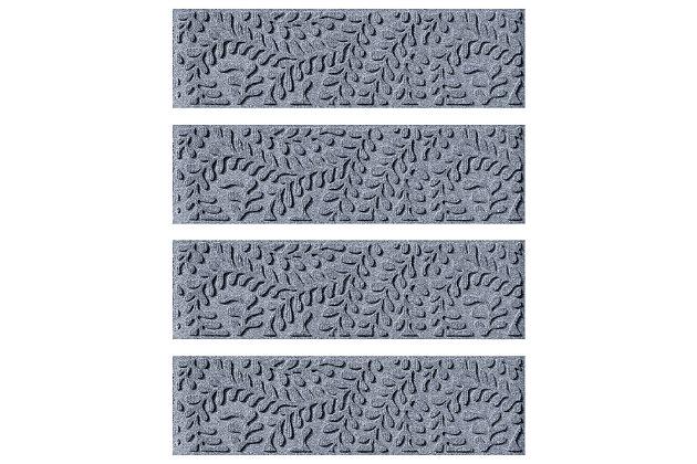 Home Accent Aqua Shield Boxwood Stair Treads (Set of 4), Bluestone, large
