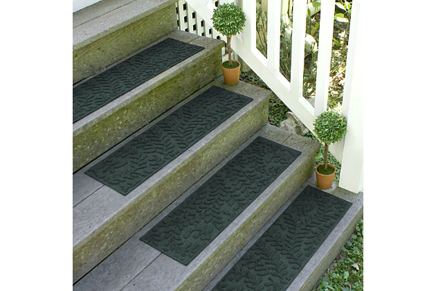 Home Accent Aqua Shield Boxwood Stair Treads (Set of 4), Evergreen, large