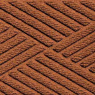 Home Accent Aqua Shield Diamonds Stair Treads (Set of 4), Dark Brown, large