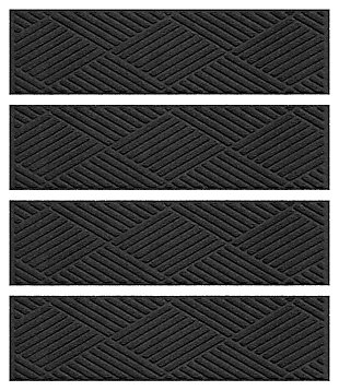 Home Accent Aqua Shield Diamonds Stair Treads (Set of 4), Charcoal, large