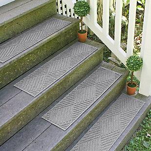 Home Accent Aqua Shield Diamonds Stair Treads (Set of 4), Medium Gray, rollover