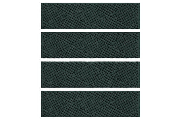 Home Accent Aqua Shield Diamonds Stair Treads (Set of 4), Evergreen, large