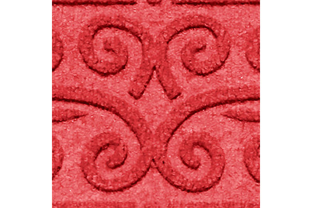 Home Accent Aqua Shield Scroll Stair Treads (Set of 4), Red, large
