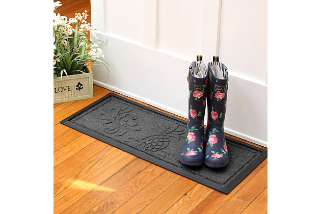 Home Accent Aqua Shield Pineapple Boot Tray, Charcoal, large