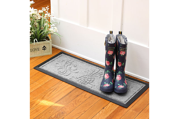 Home Accent Aqua Shield Pineapple Boot Tray, Medium Gray, large