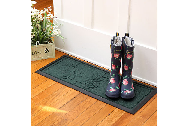 Home Accent Aqua Shield Pineapple Boot Tray, Evergreen, large