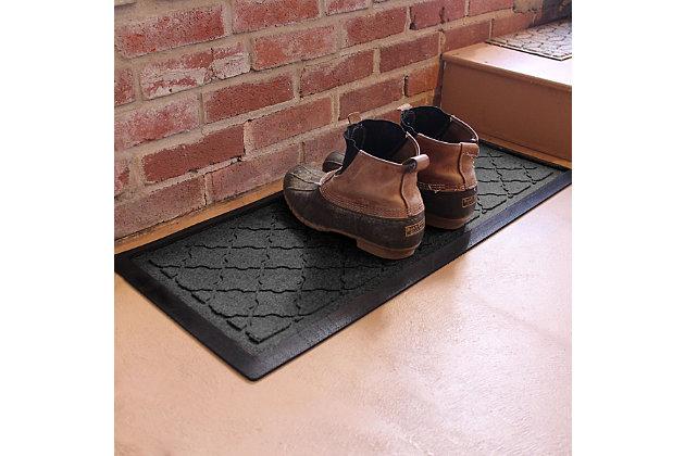 Home Accent Aqua Shield Cordova Boot Tray, Charcoal, large