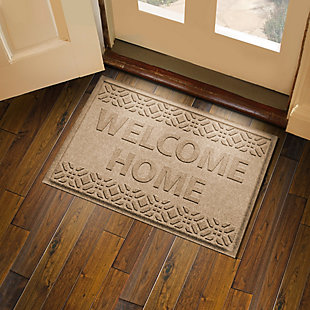 Home Accent Aqua Shield Welcome Home 2' x 3' Doormat, Khaki, rollover