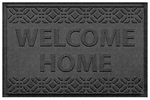 Home Accent Aqua Shield Welcome Home 2' x 3' Doormat, Charcoal, large