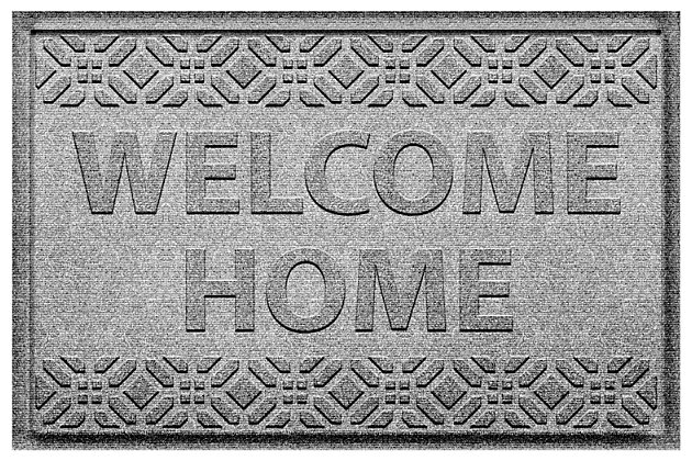 Home Accent Aqua Shield Welcome Home 2' x 3' Doormat, Medium Gray, large
