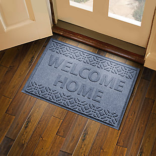 Home Accent Aqua Shield Welcome Home 2' x 3' Doormat, Bluestone, large