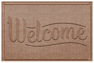 Home Accent Aqua Shield Simple Welcome 2' x 3' Doormat, Khaki, rollover