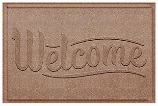 Home Accent Aqua Shield Simple Welcome 2' x 3' Doormat, Khaki, large