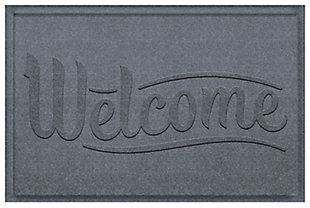 Home Accent Aqua Shield Simple Welcome 2' x 3' Doormat, Bluestone, large