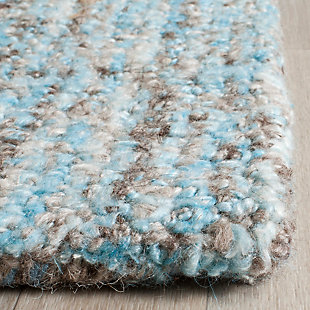 Abstract 3' x 5' Area Rug, Blue, rollover