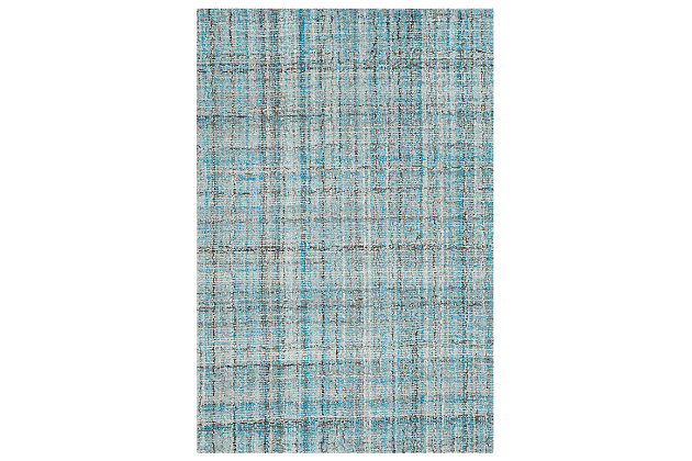Abstract 3' x 5' Doormat, Blue, large