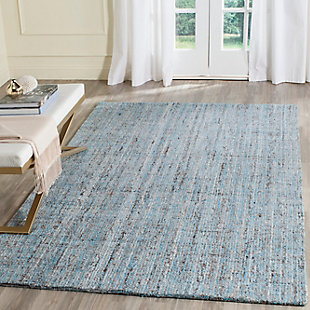 Abstract 8' x 10' Area Rug, Blue, rollover