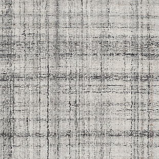 Abstract 6' x 9' Area Rug, Gray, large