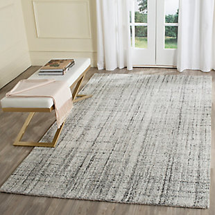 Abstract 6' x 9' Area Rug, Gray, rollover