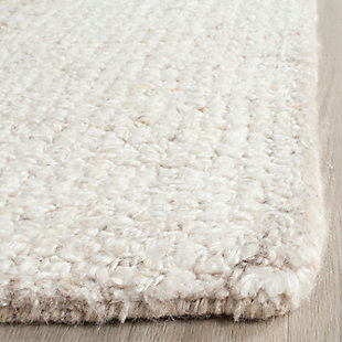Abstract 8' x 10' Area Rug, Beige/White, rollover
