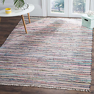 Rag 5' x 8' Area Rug, Blue/Purple, large