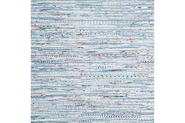 Rag 5' x 7' Area Rug, Blue, large
