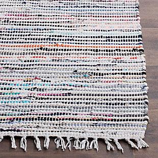 Rag 3' x 5' Doormat, Gray/White, rollover