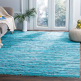 Rag 5' x 7' Area Rug, Blue/Purple, rollover