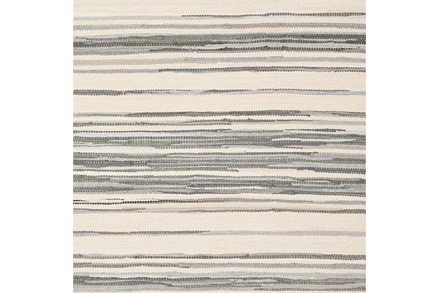 Rag 3' x 5' Area Rug, Gray/White, large