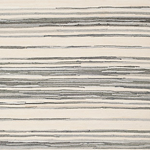 Rag 5' x 8' Area Rug, Gray/White, large