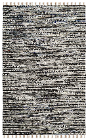Rag 5' x 8' Area Rug, Gray, large