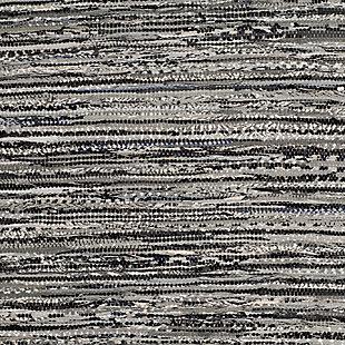 Rag 5' x 8' Area Rug, Gray, large