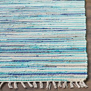 Rag 3' x 5' Doormat, Blue, rollover