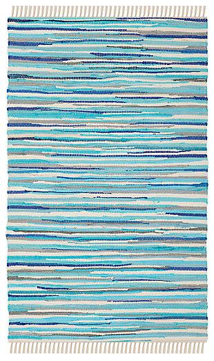 Rag 3' x 5' Doormat, Blue, large