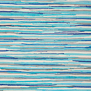 Rag 5' x 8' Area Rug, Blue, large
